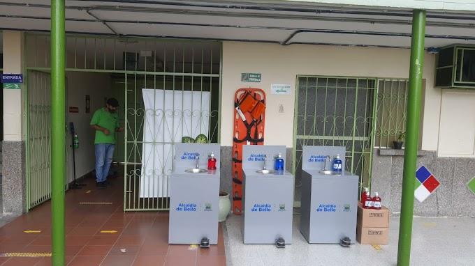 114 lavamanos portátiles y 1.500 unidades de jabón antibacterial fueron entregados en las 38 I.E. públicas de Bello
