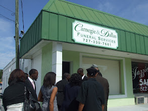 Photo: Outside the Funeral Home on Sunday