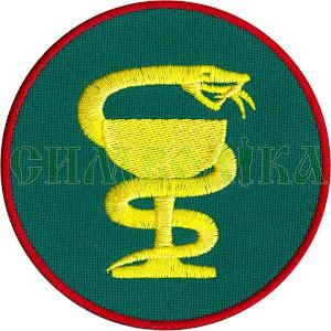 Медична служба (змія) тк зелена/жовта 9см. \Нарукавна емблема