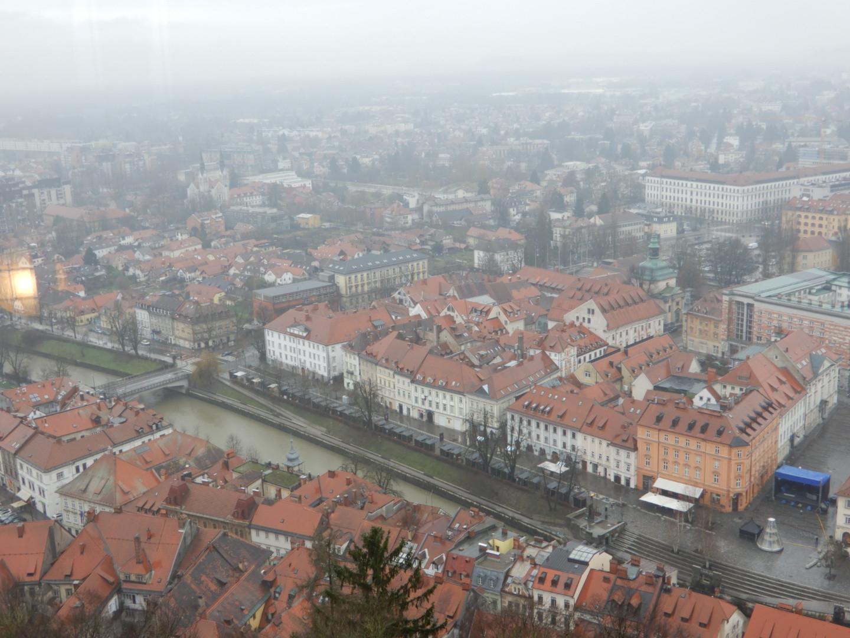 リュブリャナ城から見下ろす景色