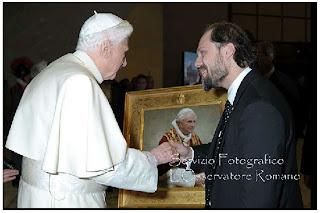 ritratto consegnato personalmente a Papa Benedetto XVI
