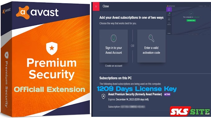 Avast Premium Antivirus with License Key (1209 Days Subscription) | Latest with Official Extension |