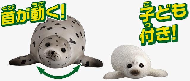 Mô hình Hải Cẩu đốm mẹ Ania AS-22 Spotted Seal xoay được đầu