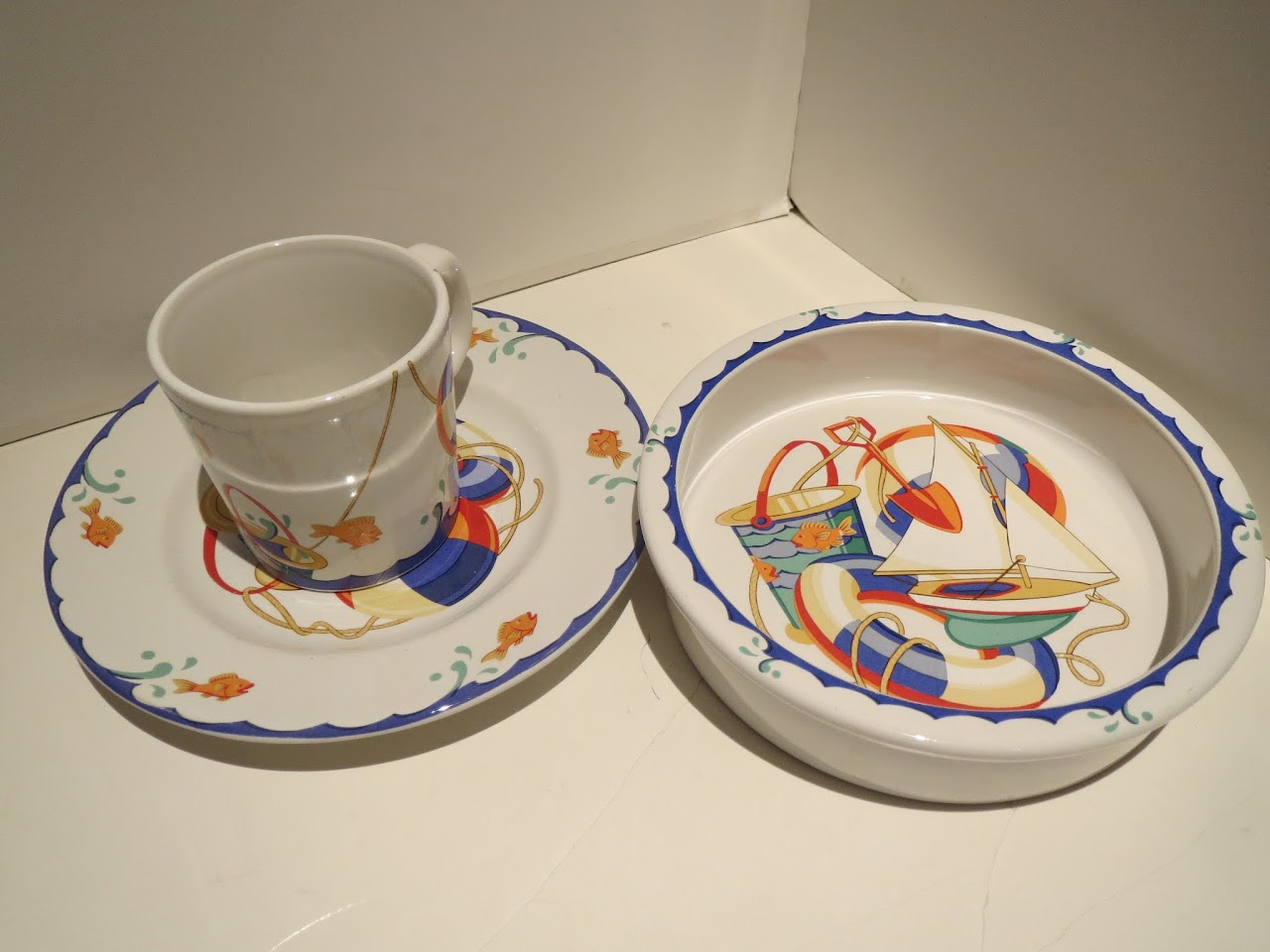 Tiffany & Co. 'Tiffany Seashore' Mug, Plate, and Bowl