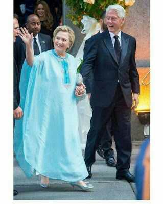 Hillary Clinton Spotted Rocking 'agbada'