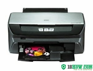 How to reset flashing lights for Epson R260 printer