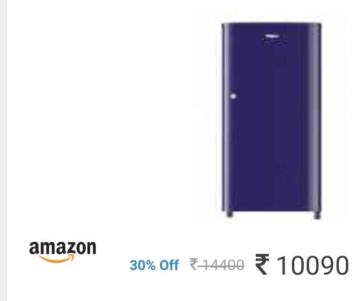 রেফরিজারেটর উপর আকর্ষণীয় অফার Whirlpool 190 L 2 Star Direct-Cool Single Door Refrigerator at Rs.10090[Apply Rs. 500 Coupon]