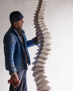 Tarjack II: PORTUGUESE MARBLE, 2013: W 35cm, H 176 cm, D 25 cm; £16,000