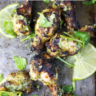 Green Curry Chicken Wings.