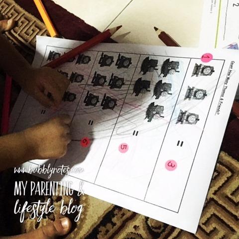 Homeschooling Activities_Idea Matematik Mudah Menggunakan Pelekat 7