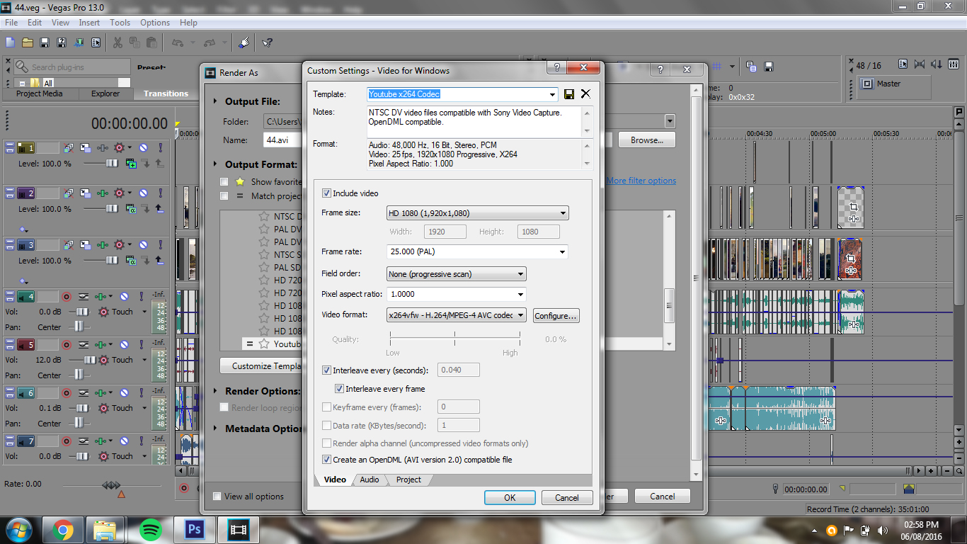 White Codec Settings Which I Am Inconsistent Upload How To Get Quality Sony Vegas Render Settings Sony Vegas 11 Sony Vegas 11 1080p Render Settings dpreview Best Render Settings For Sony Vegas