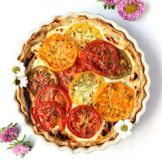 Savory Goat Cheese Tomato Pie.