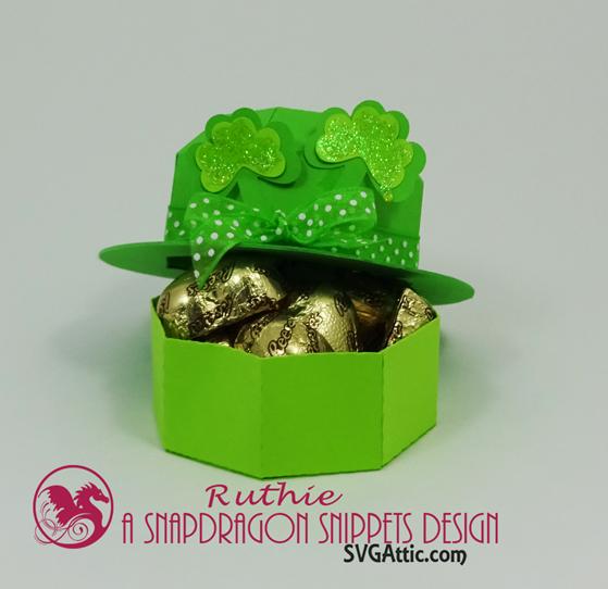 Leprechaun mini bowler hat box, SnapDragon Snippets, Ruthie Lopez 3