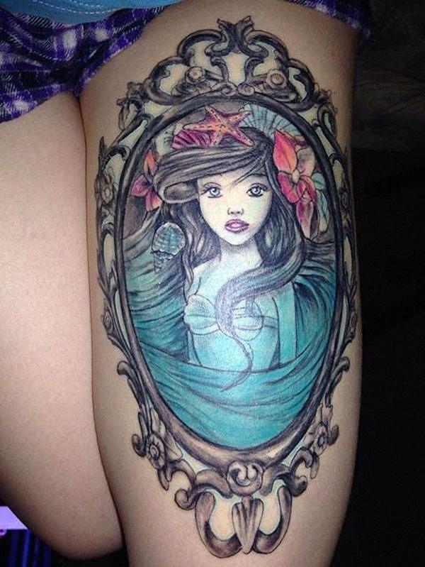 retrato_de_uma_sereia_coxa_tatuagem