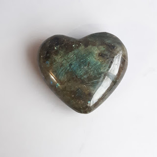Polished Mineral Specimen Heart Paperweight