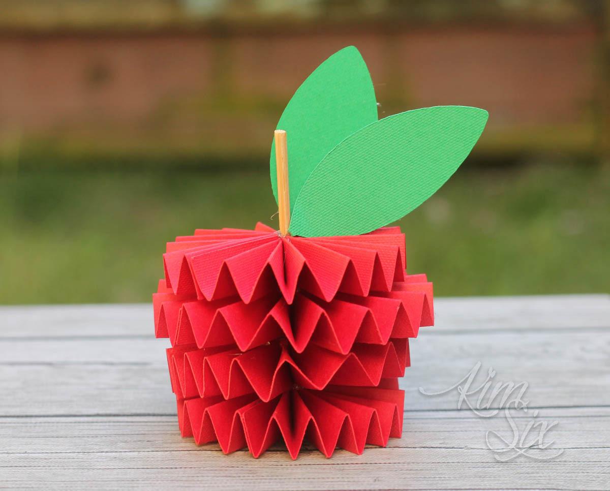 Origami paper apple