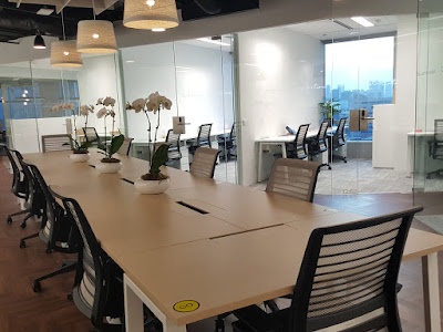 A common co-working space within Collective Works Capital Tower.