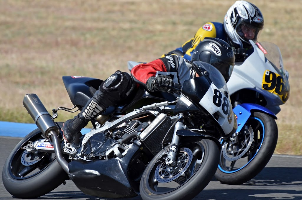 Cary racing toward Turn 14 at Thunderhill with #888, on 5/13/2012