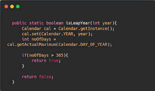 How to check leap year in Java - program example