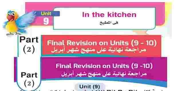 مراجعة Bit By Bit النهائية للغة الانجليزية لامتحان شهر ابريل ابتدائى واعدادى ترم ثانى 2021