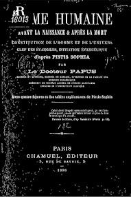 Cover of Papus's Book L'ame Humaine Avant la Naissance et Apres la Mort (1898,in French)