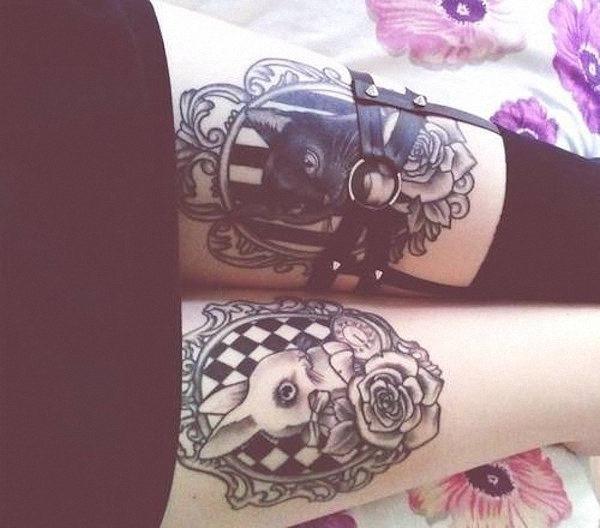 coelho_e_gato_coxa_tatuagens