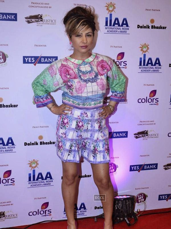 Hard Kaur at the International Indian Achievers Awards event, held at Filmcity in Mumbai. (Pic: Viral Bhayani)