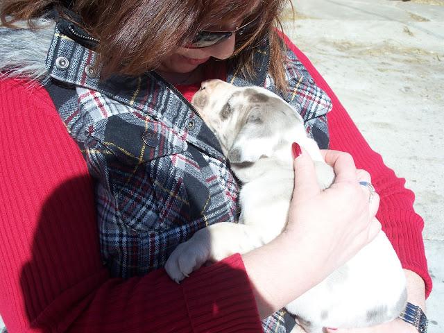 JJ cuddling with mom