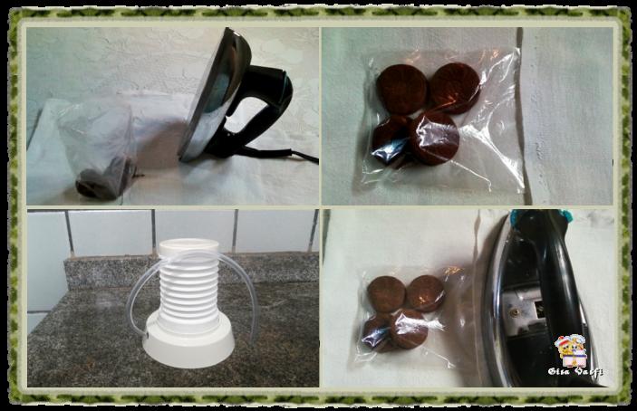Embalando petiscos usando ferro elétrico