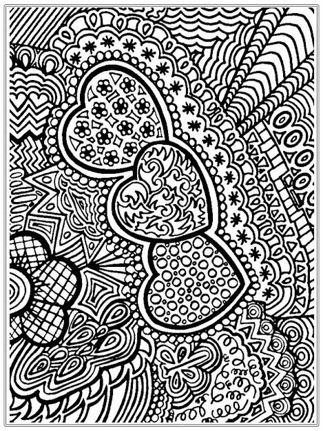 Coloring Pages Adults Printable  Flower And Heart Free Adult Coloring  Pages Printable
