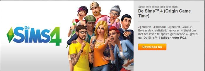 Probeer De Sims 4 gratis uit voor 48 uur
