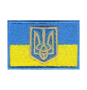 Прапорець синьо-жовтий 6х4 см
