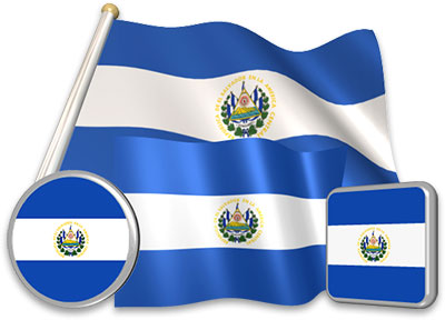 Salvadoran flag animated gif collection