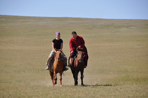 Riding horses with Munkhbaatar