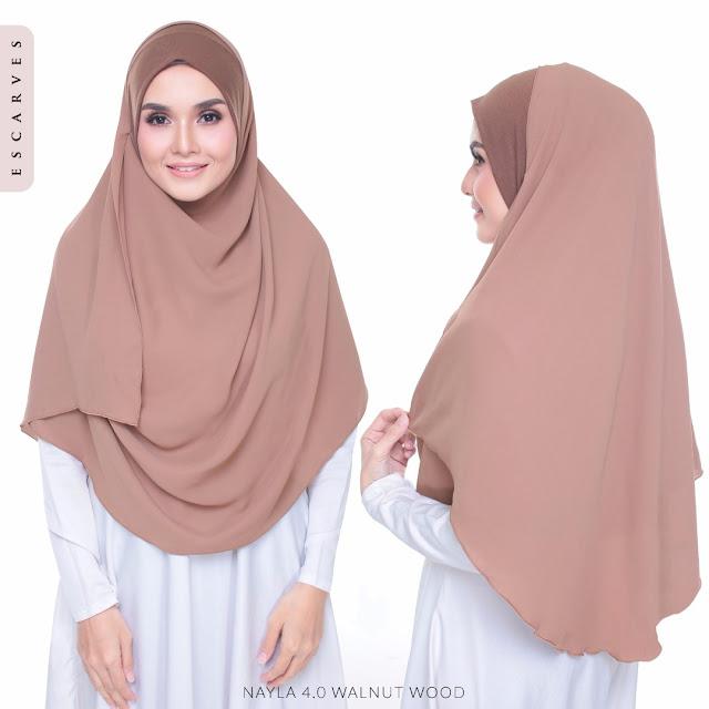 tudung shawl chiffon