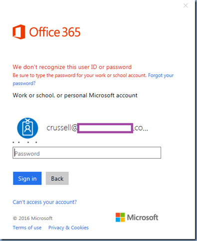Terence Luk: Attempting to sign into Office 365 https://login