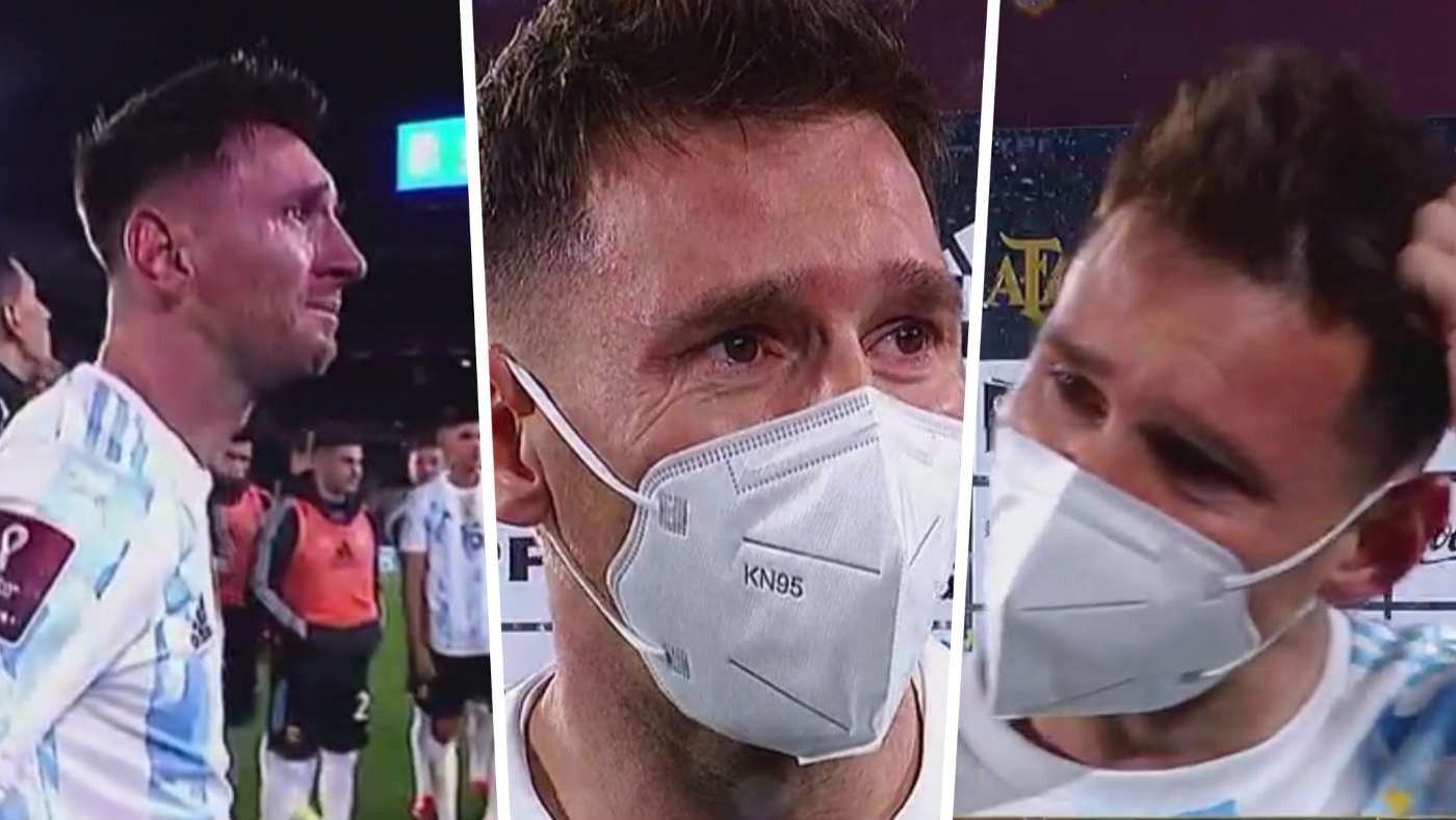 Lionel Messi cries tears of joy after surpassing Pele to become highest scoring South American male footballer (photo/Video)