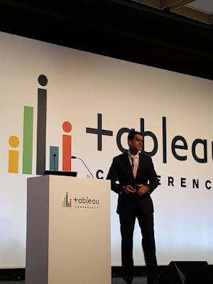 Mark McCrindle, Social Researcher, McCrindle Research, speaks at a keynote  during the Tableau on Tour roadshow in Singapore.