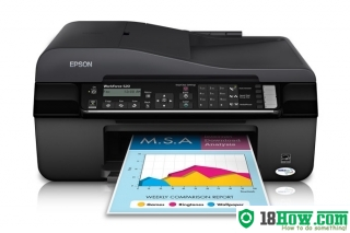 How to Reset Epson WorkForce 520 printer – Reset flashing lights error
