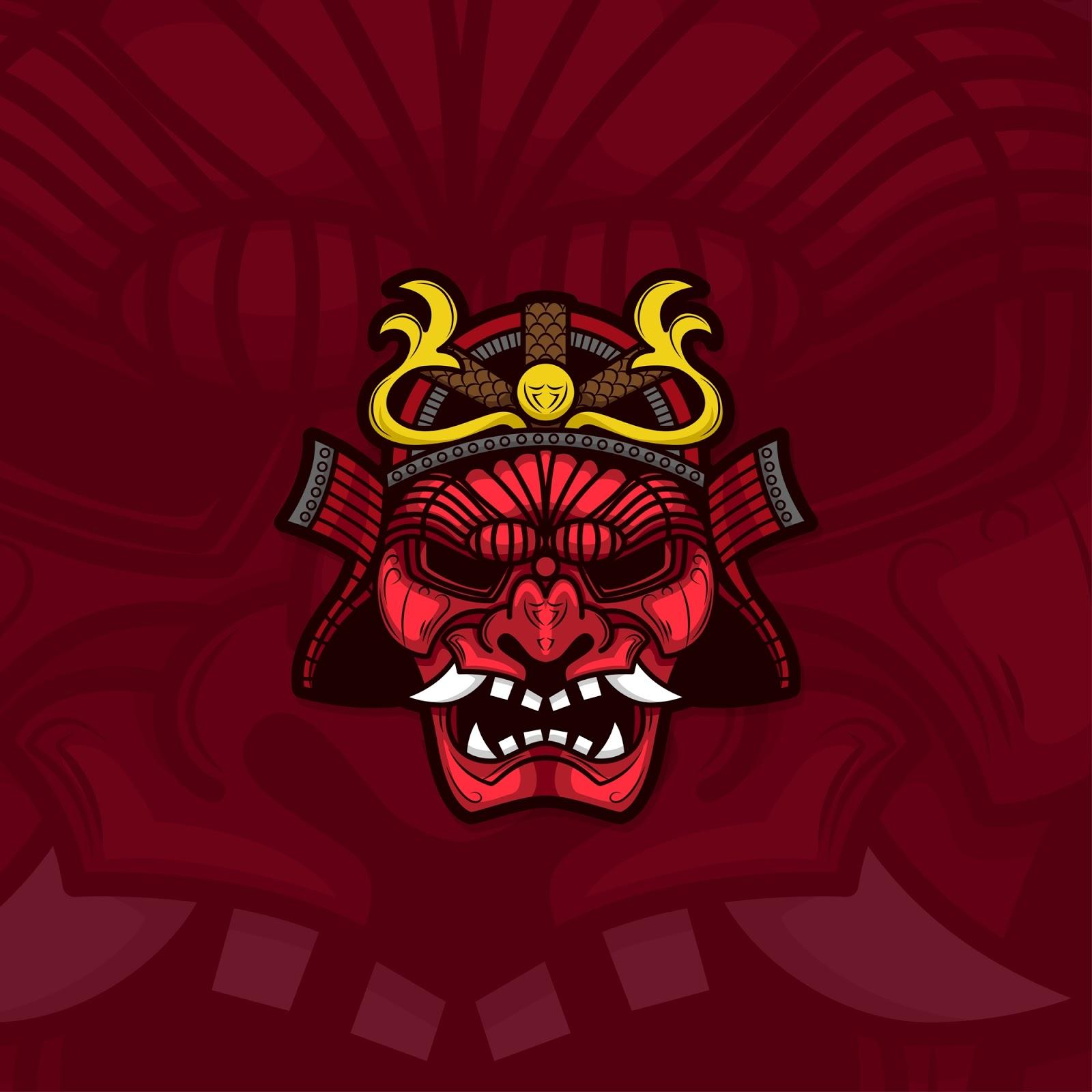 Esport Gamer Logo Samurai Free Download Vector CDR, AI, EPS and PNG Formats