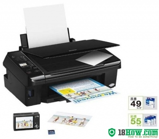 How to reset flashing lights for Epson ME-510 printer