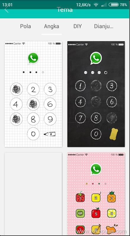 cara mengunci aplikasi android 5