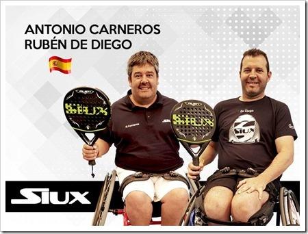 La firma Siux incorpora a Carneros y a De Diego en Pádel Adaptado.