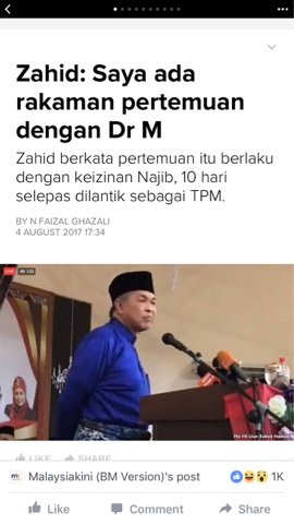 Image result for Zahid menghina Tun M