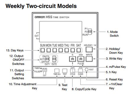 ON OFF lampu secara otomatis berdasarkan hari dan jam menggunakan Timer Omron H5S