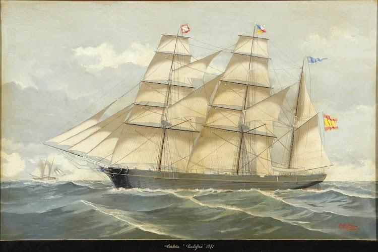 La barca GALOFRE. Oleo sobre lienzo. Salvador Pirretas Puig. Pagina Setdart.jpg