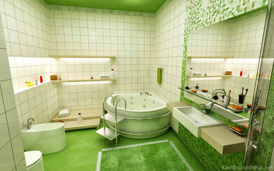 Mẫu phòng tắm trẻ trung