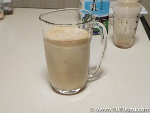 泡泡コーヒーの完成