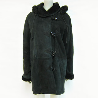 **SALE**Black Shearling Coat