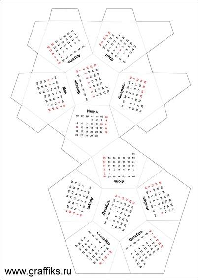 схема развертка додекаэдр 2017